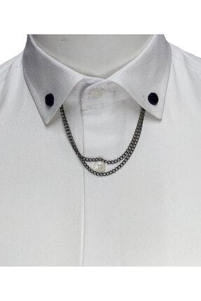 Elegante Cravatte Zincirli Gömlek Yaka Iğnesi 0