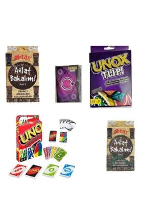 Brother Toys Uno Unox Tlip Anlat Bakalım Seri1 ve Anlat Bakalım Seri-2 Aile Oyun Kartları Seti 0