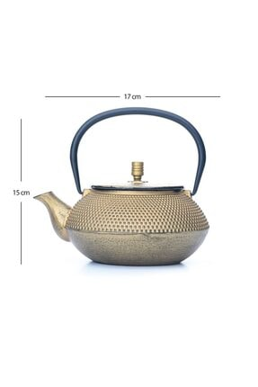 Beta Tea Ba3009 Demir Döküm Demlik Gold 700 Ml 1