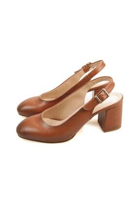 PUNTO Kadın Taba Renk Kısa Topuk Ayakkabı 1