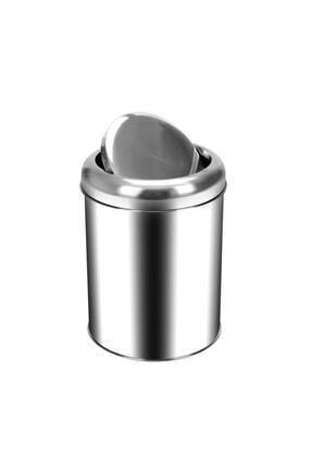 Cooker 5 Lt Pratik Kapaklı Çöp Kovası Paslanmaz 0