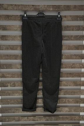 KAMİL KESKİN Kadın Siyah Çizgili Pantolon 3
