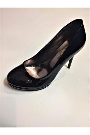 Beyaz Adım Ayakkabı Kadın Siyah İnce Klasik Topuklu Ayakkabı 0