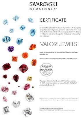 Valori Jewels 0.66 Karat Swarovski Zirkon Beyaz Damla Taşlı, Rose Gümüş Kanca Küpe 2
