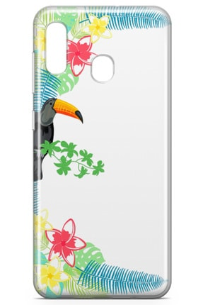 Lopard Samsung Galaxy A20 Kılıf Tukan Kuşu Arka Kapak Koruma Desenli Full Koruyucu 1