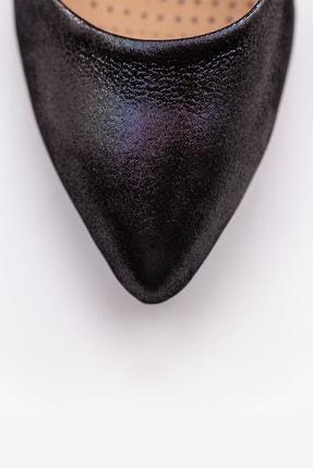 BiELOF Kadın Gri Füme Rengi Hakiki Deri Parlak Stiletto 10 Cm 15 Pont 4