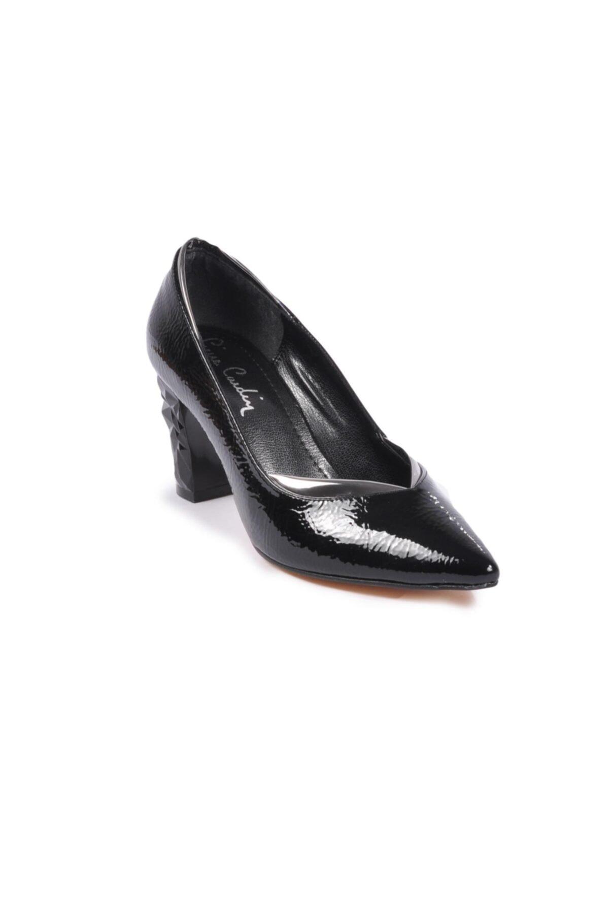 Pierre Cardin Kadın Siyah Rugan Topuklu Ayakkabı
