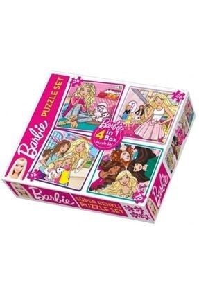 Barbie Puzzle Set 4 Ü Aynı Kutuda 24 - 35 - 54 - 70 Parçalı Lisanslı Orjinal 0