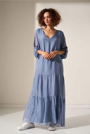 Camena V Yaka Ipek Elbise 2019070500194 0