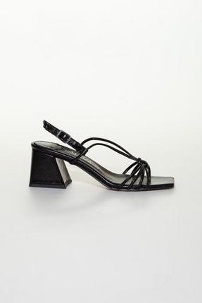 Moda Değirmeni Siyah Cilt Kadın Klasik Topuklu Ayakkabı Md1034-119-0005 1