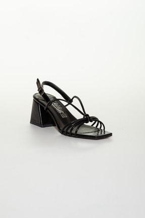 Moda Değirmeni Siyah Cilt Kadın Klasik Topuklu Ayakkabı Md1034-119-0005 2