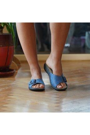 BYGURU Kadın Terlik Mavi Prodexy Iç Tabanlığı Değişebilir Tam Anatomik Günlük 1
