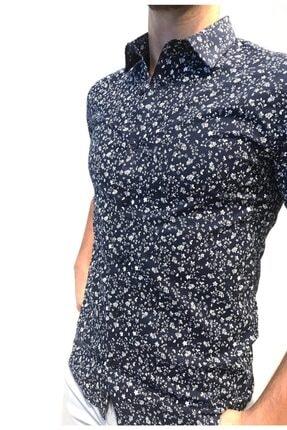 TREND&YOU Erkek Lacivert Desenli Uzun Kollu Erkek Gömlek 1