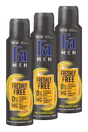 Fa Freshly Free Misket Limonu & Zencefil Deosprey X 3 Adet 0