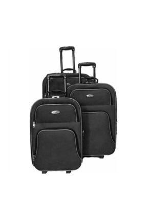 Valiz Kumaş Valiz 3'lü Siyah siyah