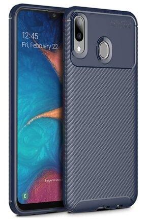 Samsung Galaxy A30 Kılıf Sert Korumalı Zırh Karbon Fiber Kapak 0