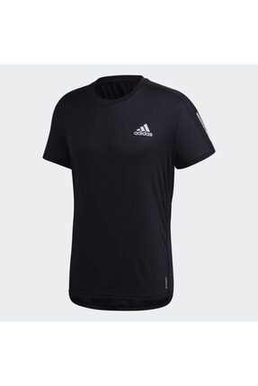 adidas Erkek Siyah Own The Run Tee T-shirt Gc7873 0