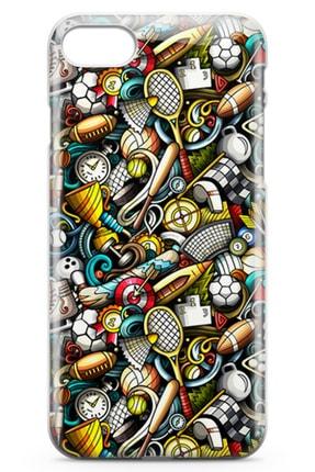 Lopard Apple Iphone 7 Kılıf Sporcu Doodle Arka Kapak Koruma Desenli Full Koruyucu 1