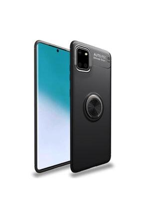 Gramaphone Samsung Galaxy A81 Kılıf Yüzüklü Standlı Siyah Arka Kapak 0