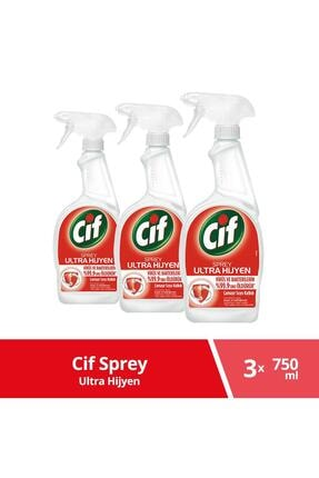 Cif Sprey Ultra Hijyen 750 Ml X 3 Adet 0