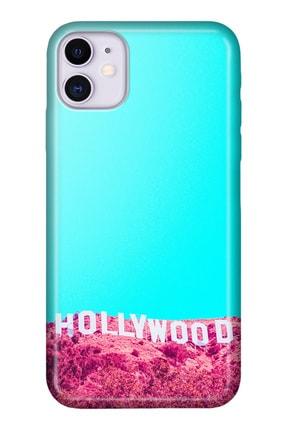 """Cekuonline Iphone 12 Mini 5.4"""" Tıpalı Kamera Korumalı Silikon Kılıf - Hollywood 0"""
