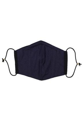 Cosplay Unisex Siyah Yıkanabilir Bez  Pamuklu 2 Katlı Filtreli Telli Kumaş Maske 3
