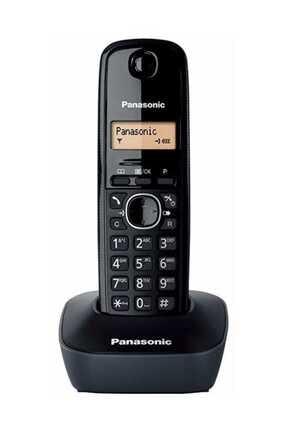 Panasonic Kx-tg 1611 Dect Kablosuz Telsiz Telefon (siyah) 0
