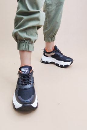 Ayax Kadın Siyah Sneaker 1
