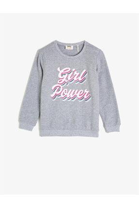 Koton Gri Kız Çocuk Sweatshirt 0
