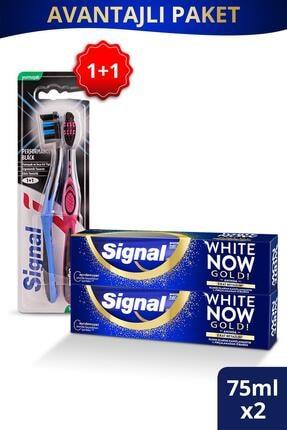 Signal White Now Gold Diş Macunu 75 Ml + Performans Black Diş Fırçası 1 + 1 0
