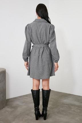 TRENDYOLMİLLA Çok Renkli Kuşaklı Elbise TWOAW21EL2067 4