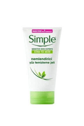 Simple Kind To Skin Multivitamin (E & B5) İçeren Nemlendirici Yüz Temizleme Jeli 150 Ml 0