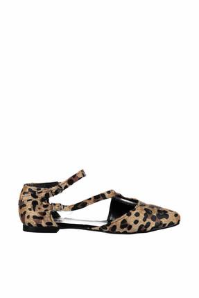 Fox Shoes Leopar Kadın Ayakkabı D726016902 1