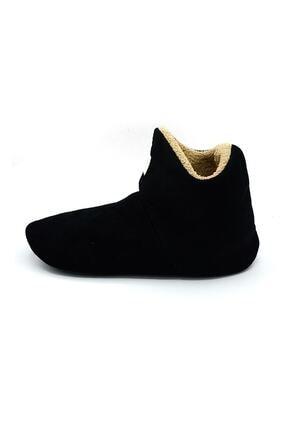 UCC Unisex Siyah Içi Yünlü Ev Pandufu Ev Botu Ev Ayakkabısı 3