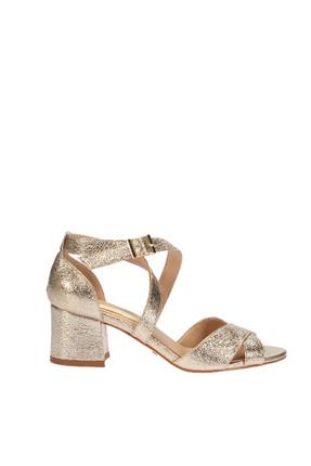 Altın Kadın Topuklu Ayakkabı 120130007043
