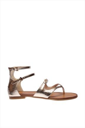 İnci Hakiki Deri Altın Kadın Sandalet 120120543046 0