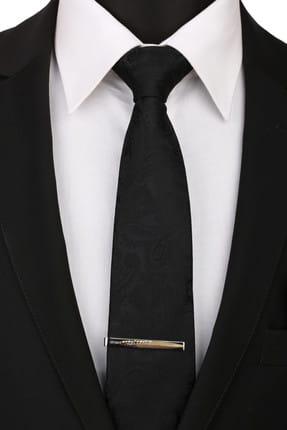 La Pescara Erkek Gümüş Renk Yaprak Motif Kravat İğnesi KIY121 KRVT8690002221858 1