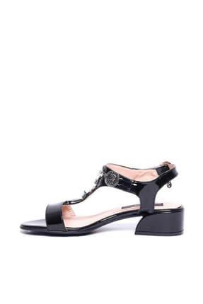Kuum Kz1613-1 Siyah Kadın Deri Sandalet 100387812 2