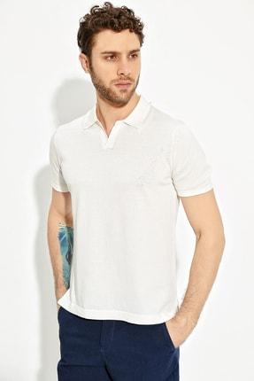 CHUBA Ekru Erkek Polo Yaka Yırtmaçlı Sportriko T-shirt 0
