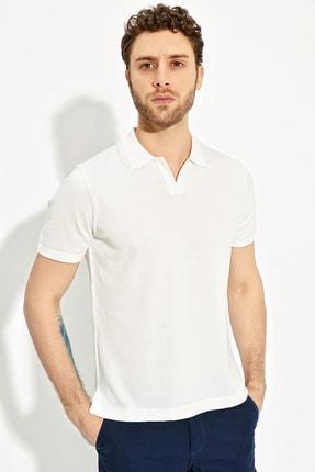 CHUBA Ekru Erkek Polo Yaka Yırtmaçlı Sportriko T-shirt 1