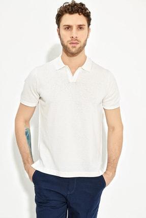 CHUBA Ekru Erkek Polo Yaka Yırtmaçlı Sportriko T-shirt 2