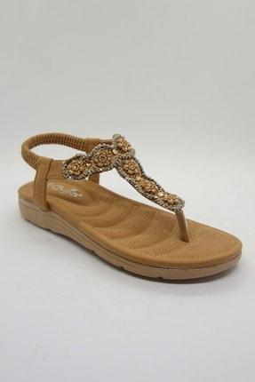 Taba Cilt Kadin Sandalet JG150