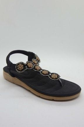Siyah Cilt Kadin Sandalet JG150