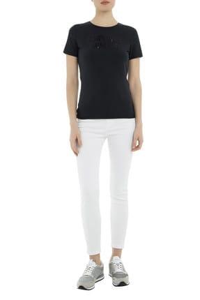 Emporio Armani Lacivert Kadın T-Shirt 3G2T86 2JQAZ 0920 4