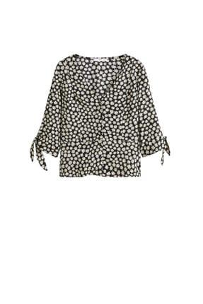 Mango Kadın Siyah Çiçekli Bluz 43035822 2