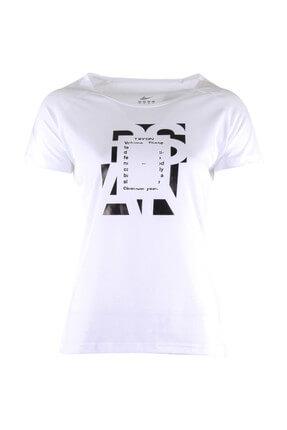 TRYON Kadın T-shirt - Tryon Evora Bisiklet Yaka Tişört Beyaz - 37614 0