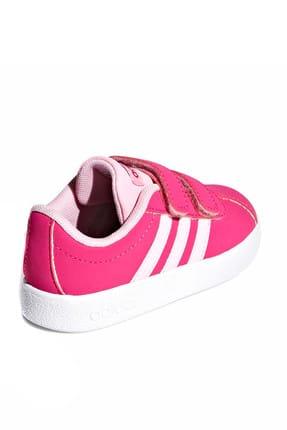 adidas Vl Court 2.0 Cmf I Fuşya Pembe Kız Çocuk Sneaker Ayakkabı 100398772 4