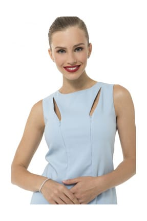 Accouchee Bebe Mavisi Emzirme Özellikli Şık Elbise 2