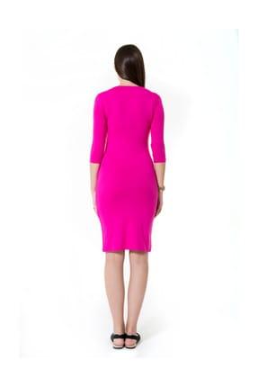 Accouchee Pembe Kolay Emzirme Özellikli Elbise 3