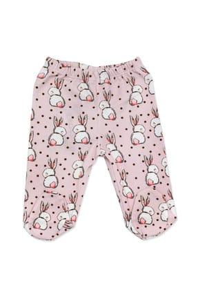 Necix's Bebe Pembe Tavşanlı 3 Lü Kız Bebek Alt Takım K2634 3